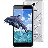 Cubot Max Smartphone Débloqué 4G ( 6.0 Pouces IPS HD Ecran Android 6.0 Téléphone Portable, Dual SIM, MT6753 Octa-Core 1.3GHz, 3GB RAM +32GB ROM, 8+1.3MP Camera , 4100mAh Batterie, OTG Wifi HotKnot Finger Gesture) - Argent