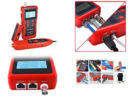 Kalea Informatique Netzwerktester RJ45RJ11USB BNC: testet die Länge, Kartenbild und Eichstrich die Kordeln RJ45RJ11BNC USB-Schutz Anti-Interferenz -