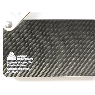 Avery Supreme Wrapping Film Serie Schwarz 3D Carbon große Struktur gegossene Autofolie 100 x 152 cm Zuschnitt
