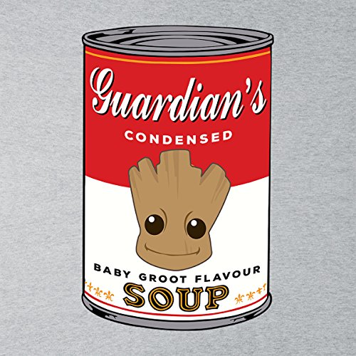 Guardians Of The Galaxy Baby Groot Soup Warhol Women's T-Shirt Heather Grey
