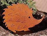 PW Rostoptik Igel auf Bodenplatte 15 cm Gartendeko Herbst