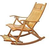 Liegestühle LHA Bambus Klappstuhl Erwachsenen Balkon Schaukelstuhl alte Mittagspause Stuhl Siesta Schaukelstuhl faulen Stuhl Sessel