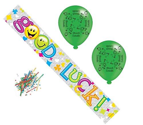 ck, Banner, Konfetti, Ballons, für alle Anlässe (Viel Glück-banner)