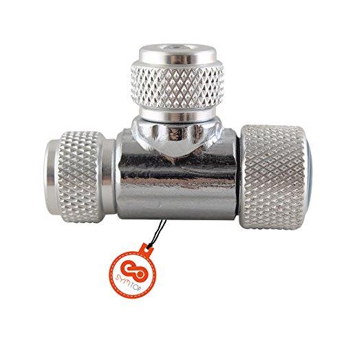 Aluminium Präzise CO2 Ventil Nadelventil Regler CO2-Feindosierventil für Aquarium Fischglas mit 2 Gewinde (Nadelventil Co2)