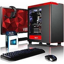 """VIBOX Armageddon GL560-570 Komplett-PC Paket Gaming PC - 4,2GHz Intel i5 Quad Core CPU, Geforce GTX 1060, leistungsfähig, Wassergekühlter Desktop Gamer Computer mit Spielgutschein, 27"""" HD Monitor, Gamer Tastatur & Mouse, Windows 10, Weiß Innenbeleuchtung, lebenslange Garantie* (3,8GHz (4,2GHz Turbo) Intel i5 7600K Kabylake Quad 4-Core Prozessor CPU, MSI Nvidia GeForce GTX 1060 3GB Grafikkarte, 8GB Team 3000MHz DDR4RAM, 480GB SSD, 3TB Festplatte, Corsair H100i GTX Wasserkühler, NZXT Gehäuse)"""
