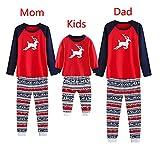 Darringls Conjunto de Pijamas Familiares de Navidad, Pijama Top + Pantalones Venado de Navidad...