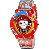 Nickelodeon Digital Grey Dial Kid Boy's Watch with Red Case