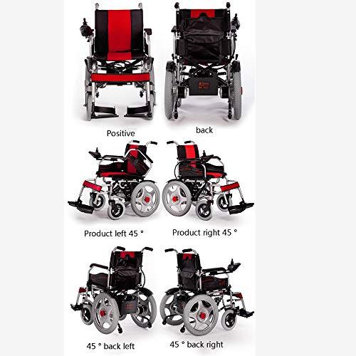 51lqc7w7WgL - WJUAN Silla De Ruedas Eléctrica Ancianos Discapacitados Scooter Inteligente Completamente Automático Ligero Plegable Vehículo Eléctrico De Cuatro Ruedas