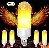 MYY LED Flackernde Flamme Glühbirne Feuer-Effekt Beleuchtung E27 Jahrgang Flammen Simuliert Atmosphäre Haus Dekoration Urlaub Feier (5Pack)