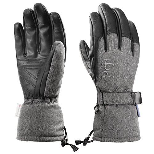 Herren Ski-handschuh (MCTi Skihandschuhe Herren Winter Ski Snowboard Handschuhe Winterhandschuhe Wasserdicht Warm Thinsulate Thermo)