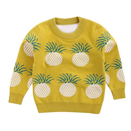 URSING Unisex Jungen Mädchen Baby Kinder Ananas Pullover Weiche Warme Kinder Pulloverhemd...