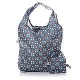 Mary Blue Floral Design Pocket Foldable Shopping bag from Shruti