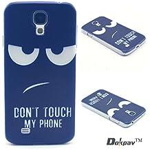 Dokpav® Carcasas de Samsung Glaxy S4 Caso Case, Funda del Teléfono Celular Delgado y Elegante con Material de TPU Suave para Samsung Glaxy S4 (detestar expresión)