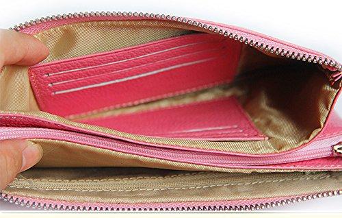 Keshi Leder neuer Stil geldbörse damen lang Pink