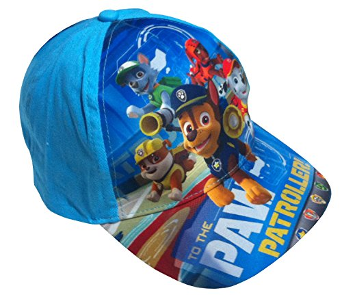 Paw Patrol Hunde Patrouille Cap Basecap Mütze Kinder Kappe Schirmmütze (54, hellblau)