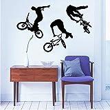 Czxmp Kunst Wohnkultur Wandbild Jump Bike Radfahrer Bmx Freestyle Springen Wandtattoo Extreme Sport Wandaufkleber Jungen Zimmer Vinyl55 * 88 Cm
