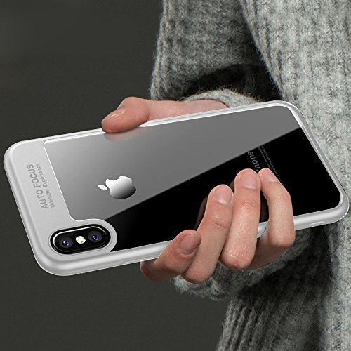 Custodia iPhone X, PULEN [Ultra Hybrid] [Absorption-Shock] Slim Protezione e Premium chiarezza Case Air-Cushion Absorption Technology Cover Protettiva con Impact Absorbing Gomma e pannello posteriore  Bianca