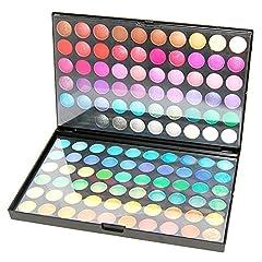 Idea Regalo - Accessotech 120 Colori Palette Ombretti Eyeshadow Palettes Trucco Corredo Box Professional