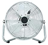DOMAIR BA45CC - Ventilateur/Brasseur d'air à poser - Diamètre 45 cm - 120 Watts - 3 Vitesses - Débit d'air : 6902 m3/h - Inclinable - Chromé