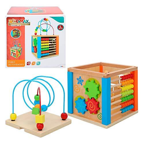 WOOMAX- Centro de actividades de madera (Color Baby 42745)