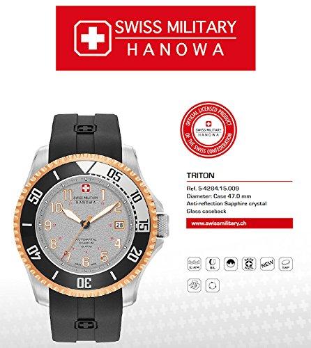 SWISS MILITARY-HANOWA Herren Analog Quarz Uhr mit Silikon Armband 05-4284.15.009