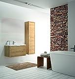 ALLIBERT Badmöbel Set Badmöbel vormontiert Eiche Hell Softclose Waschtisch 80 cm
