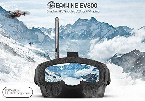 EACHINE EV800 FPV Brille 5 Inch 800x480 FPV Goggles 5.8G 40CH Raceband Auto-Suche Eingebaute Batterie für Quadrocopter - 3
