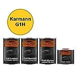 Autolack Set Dose spritzfertig Karmann G1H Sonnengelb / Hellgelb Grundlack + Basislack + 2K Klarlack 3,5L
