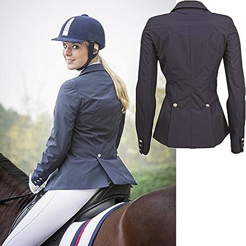 HKM–2359–Horse–Giacca softshell da dressage Jumping concorrenza adulti/bambini misure, Blu intenso - Dressage Horse Tack
