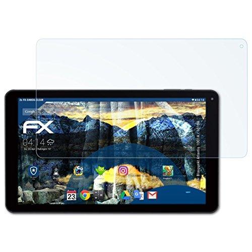 atFolix Schutzfolie kompatibel mit Blaupunkt Atlantis 1001A / 1010A Panzerfolie, ultraklare & stoßdämpfende FX Folie (2X)