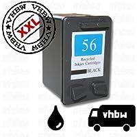 Cartucho de tinta de color negro para HP Deskjet 5145, 5150, 5151, 5550 etc., es un recambio del original HP NR.56