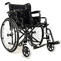 Silla de ruedas para personas con discapacidad, cómoda y plegable, modelo B