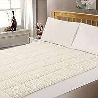 Dreamscene–lujo colchón Topper Super Soft Protector para cama King–crema