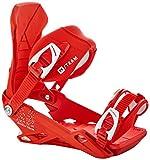 Nitro Snowboards Herren Team '20 all Mountain Freestyle Freeride Bindung Snowboardbindung, Attacco per Snowboard. Uomo, Rosso, L