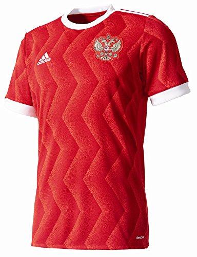 Herren Fußball Replica Trikot (adidas Herren Russland Heim Replica Trikot, Scarlet/White, M)