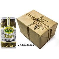 Pack 6 unidades Pepinillos Gordos 20/30 Sabor Anchoa - Envase PET 1200 g Peso neto unidad