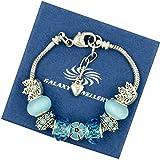 Charm Bracelet 'Blue Flower' - Ideale regalo per le donne e le ragazze - viene fornito con scatola regalo