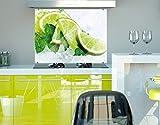 Klebefieber Spritzschutz Limetten auf Eis B x H: 60cm x 40cm