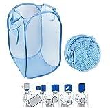 #9: Moira 1 pcs 20 L Mesh Foldable Laundry Bag/Basket (Assorted Colors) (1)
