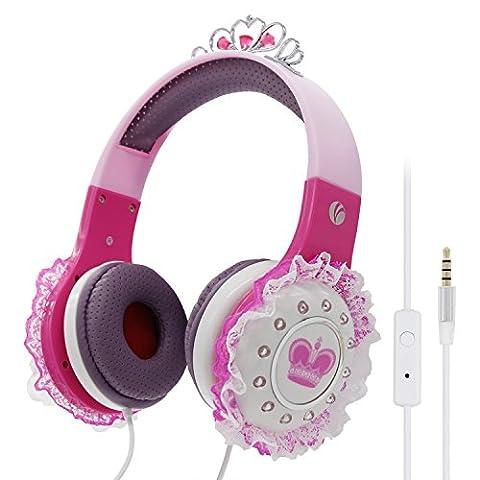 Princesse Casque audio pour enfants pour bébé Enfants Filles pour iPad PC Tablettes Kindle vcom
