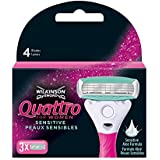 Wilkinson - Quattro For Women - Lames de rasoir pour Femme - Pack de 3