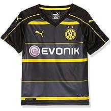 Puma, Camiseta de visitante del BVB para Niños, Negro (Black/Cyber Yellow), 176