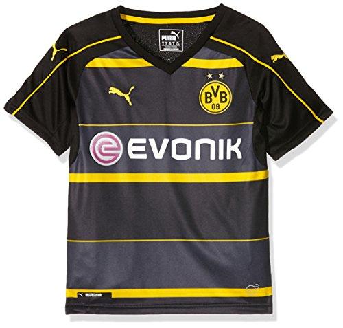 Puma, Camiseta de visitante del BVB para Niños, Negro (Black/Cyber Yellow), 164