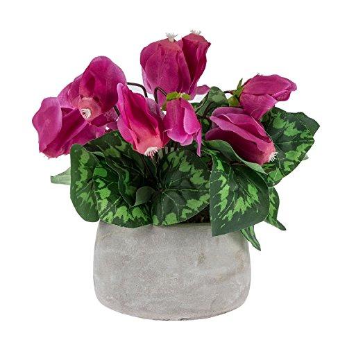 Homescapes Künstliche Topfblume Alpenveilchen