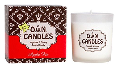 ONE WITH NATURE Duftkerze Glas in Geschenkbox, Weihnachtlicher Apfelkuchen (Torten Duftkerze)