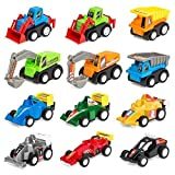 #9: Amitasha Engineering Construction Vehicle Mini Dumper Excavator Truck Toy Set for Children (Car Set of 12)