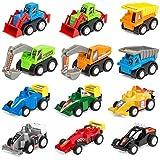 Amitasha Engineering Construction Vehicle Mini Dumper Excavator Truck Toy Set For Children (Car Set Of 12)
