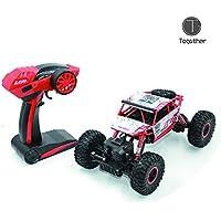 Togather 2.4G telecomando RC Camion Alte prestazioni Sumo Jumping Car Mini SUV Auto Giocattolo con rock Crawler - Rosso