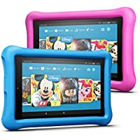 Fire HD 8 Kids Edition Tablet Variety Pack, 32 GB, (Blau/Pink) kindgerechte Hülle