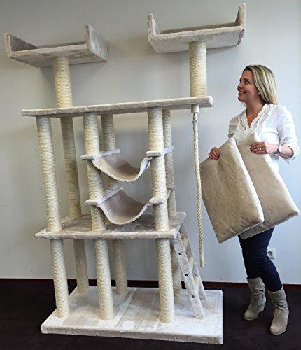 Kratzbaum für große Katzen XXL Cat Temple Elite Creme. Normal €399 ! Super Amazon Promo. Katzenkratzbaum speziell für große und schwere Katzen wie Maine Coon. Europäischer Qualitätsproduktion von RHRQuality